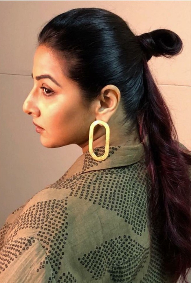 Vidya Balan in 1011 earring and ring for a event. Styled by Who Wore What When