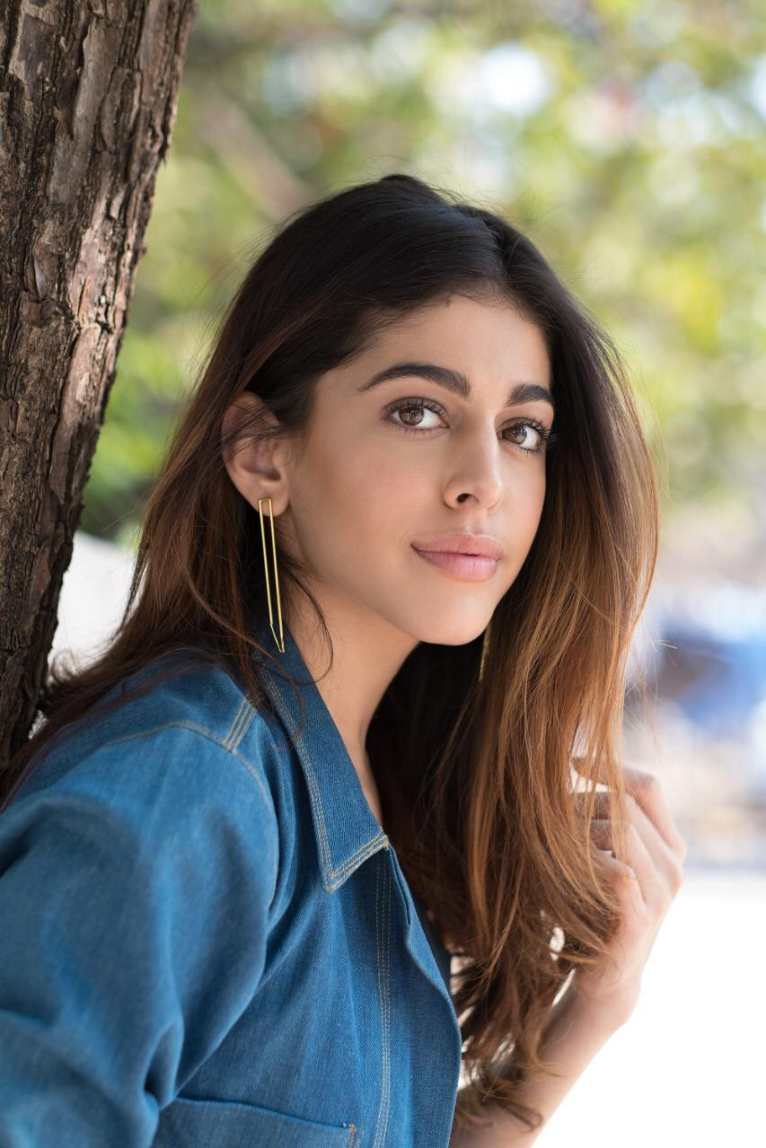 Alaya F in our brass earrings for the promotions of her debut film Jawaani Janemaan