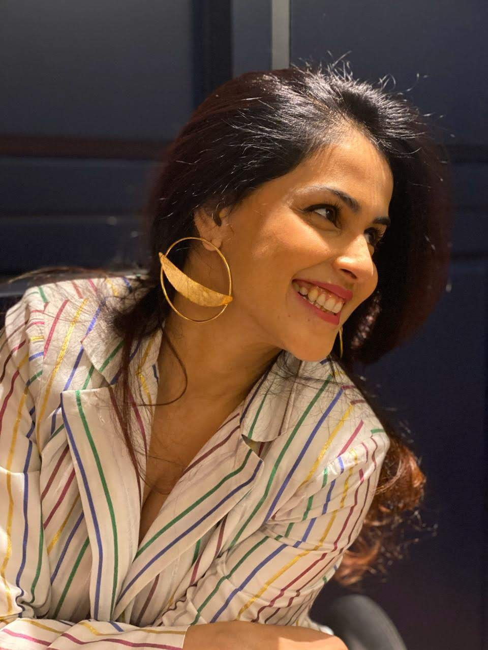 Genelia D'souza in One nought one one earrings for the screening of the film Chhapaak