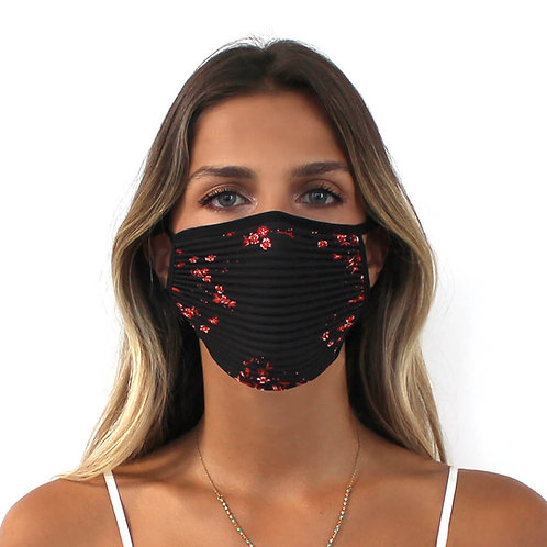 3er-Set Plissé-Masken für Jugendliche/Erwachsene