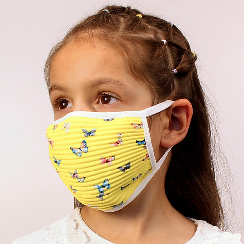5er-Set Plissé-Masken für Kinder