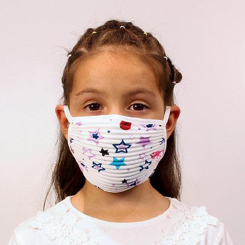 3er-Set Plissé-Masken für Kinder