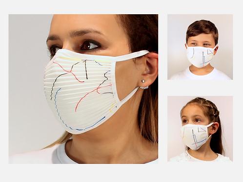 3er-Set Plissé-Masken für Kinder und Erwachsene