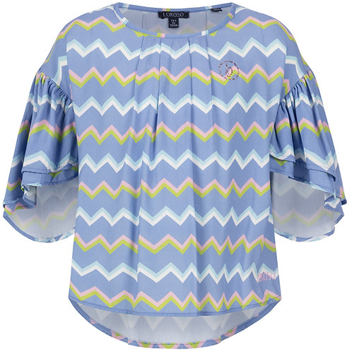 Blouse with zig-zag print