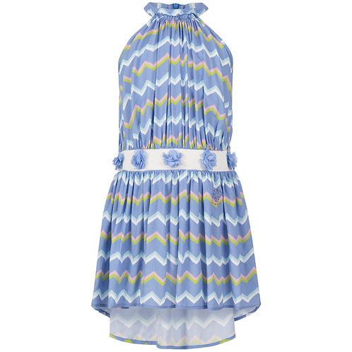 Dress with zig-zag print