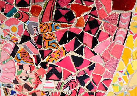 Pink Mosaic Parc Guell