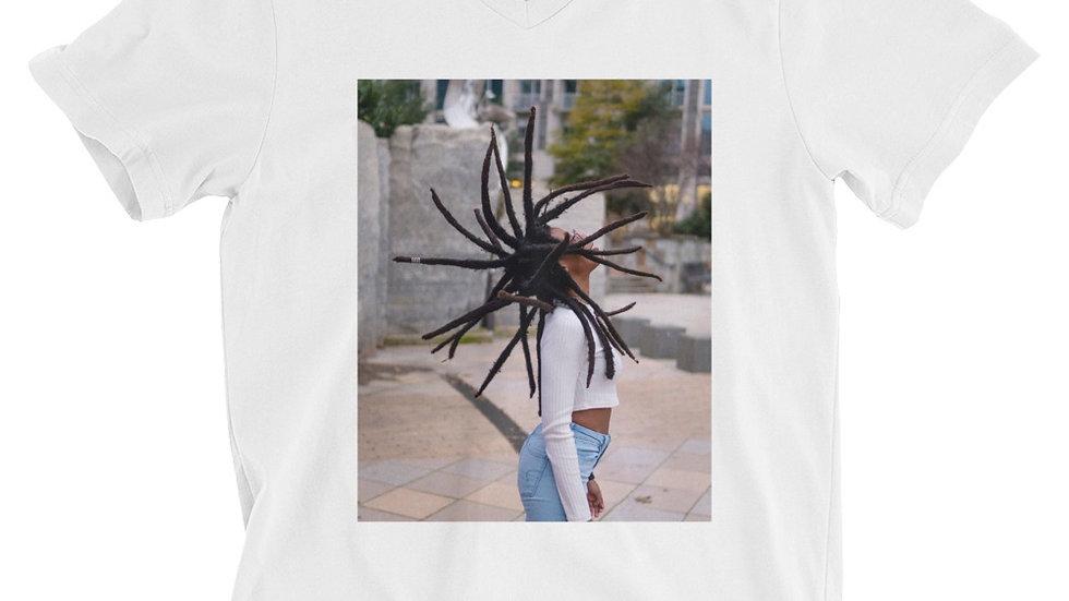 Unisex Locs Short Sleeve V-Neck T-Shirt