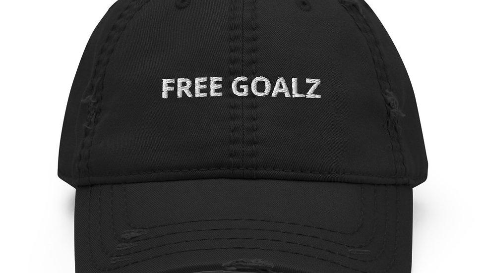 Free Goalz Distressed Dad Hat