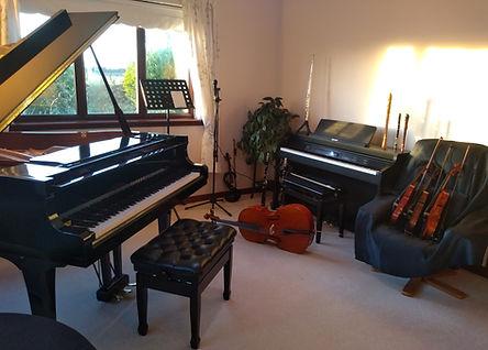 music teaching studio