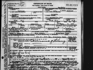 Frank L. Vance, Sr., Son of Rev. Lafayette F. Vance, Died at Good Samaritan-Waverly Hospital in 1959