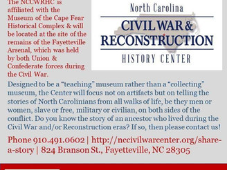 The NC Civil War & Reconstruction History Center Wants Stories from North Carolinians