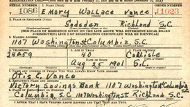 Finding My Grandfather, Emory Wallace Vance, Sr. in 1942