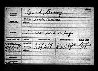 Berry Leech 83, Died in Robeson County, NC and was in 135th US Colored Infantry