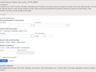 Pick Some Low Hanging Fruit on United States Public Records, 1970-2009