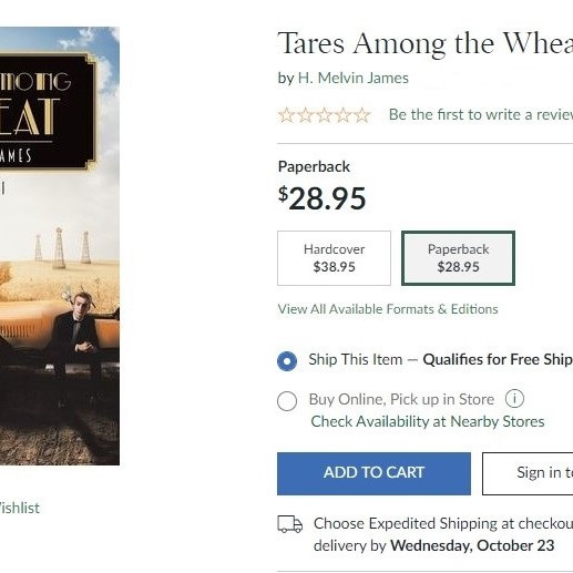 TARES AMONG THE WHEAT, Vol I JUST RELEASED !
