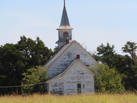 The country church 50 years later.
