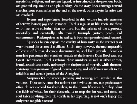 The blurb for Volume II is printed on the back cover.