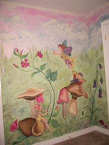 Fairy Mural Painting