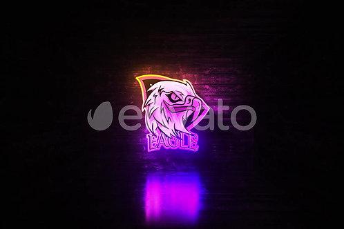26363635 Grunge Neon Logo