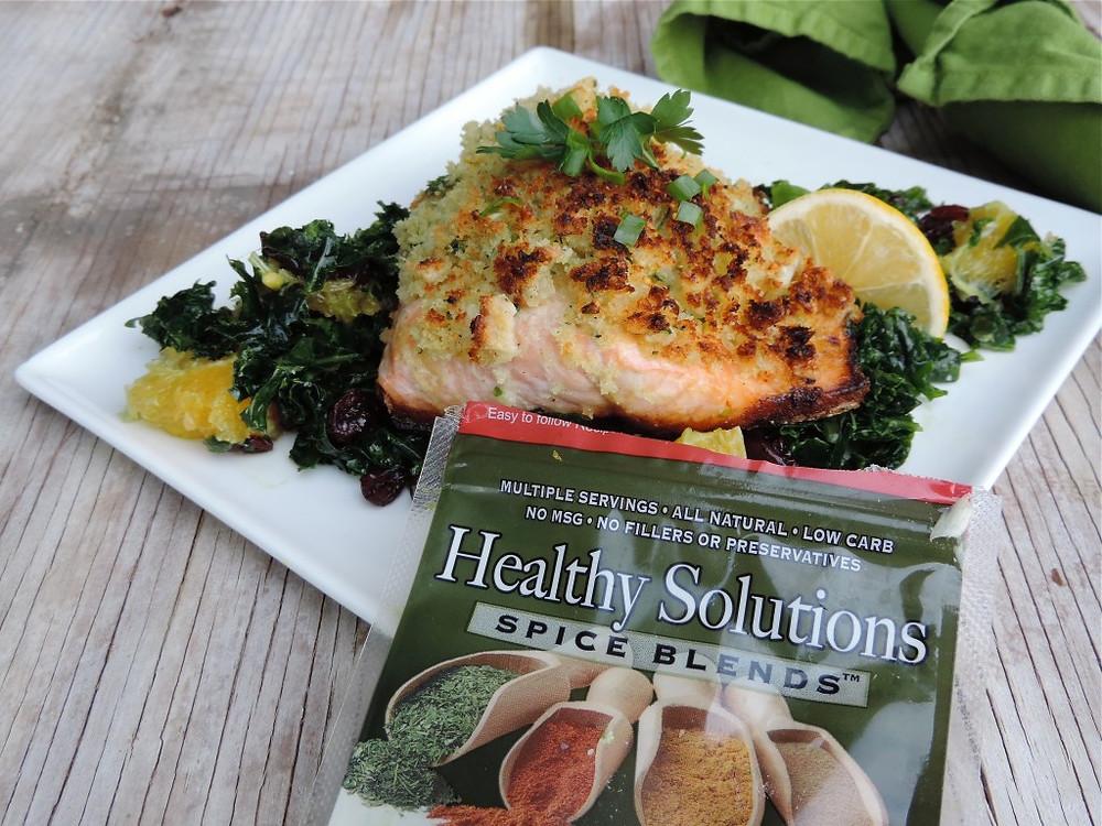 A Merry Recipe - Sourdough Crusted Salmon