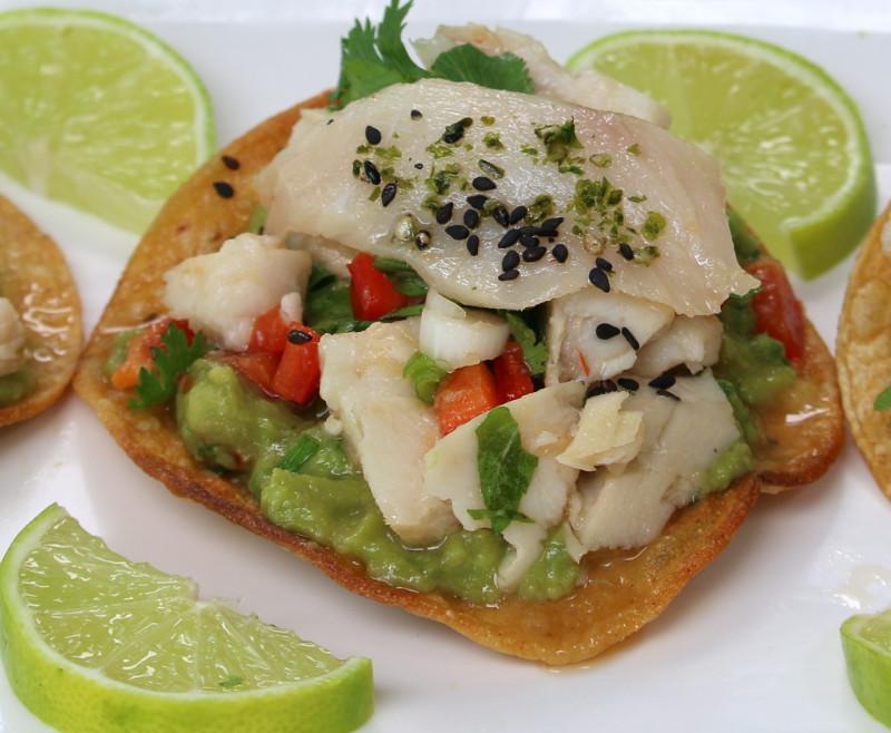 Open-Face Cobia Tacos