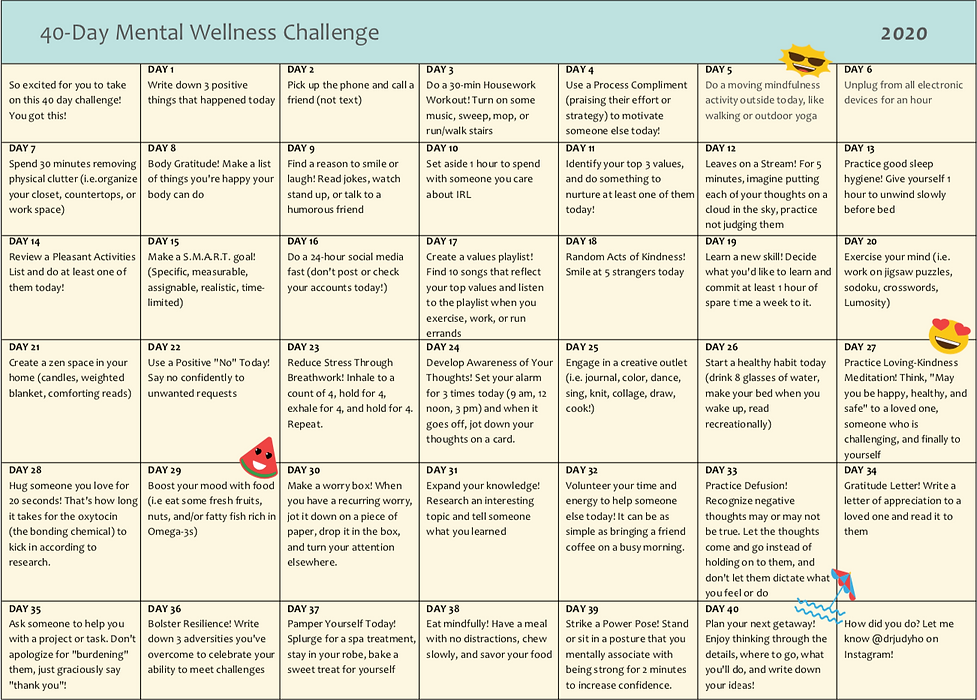 40-Day Wellnes Challenge