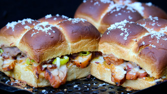 Grilled Pollo Asado Sliders with Frijoles Spread