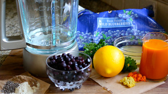 Wild Blueberry Super Foods Smoothie