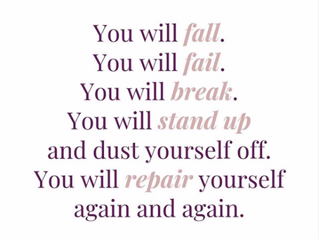 You will Fall. You will Fail. You will Break.