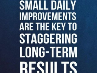 MOTIVATION: Make small daily improvements