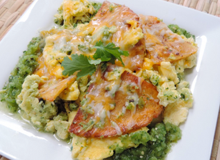 Chilaquiles and Huevos with Salsa Verde
