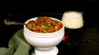 Brats, Beer, Bacon & Beans Chili