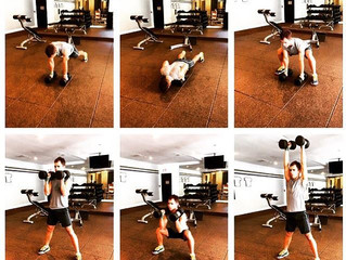 TRY THIS: Push-Up Burpie Squat & Press Combo