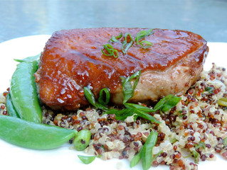 WHAT'S FOR DINNER: Hoisin Lime Duck with Quinoa and Snap Peas