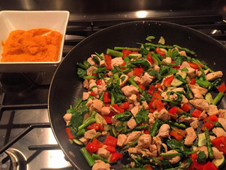 WHAT I'M EATING: Sautéed Chicken Breast & Veggies