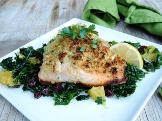 Sourdough Crusted Salmon