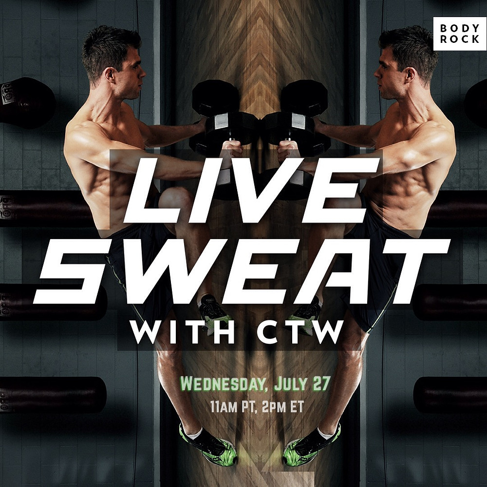 sweat live with trainer Chris Tye-Walker