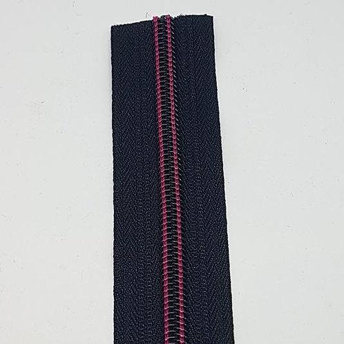 #7 Black with Fuschia Thread