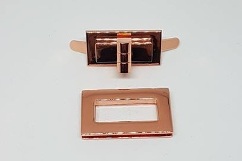 Rose Gold Rectangle Lock