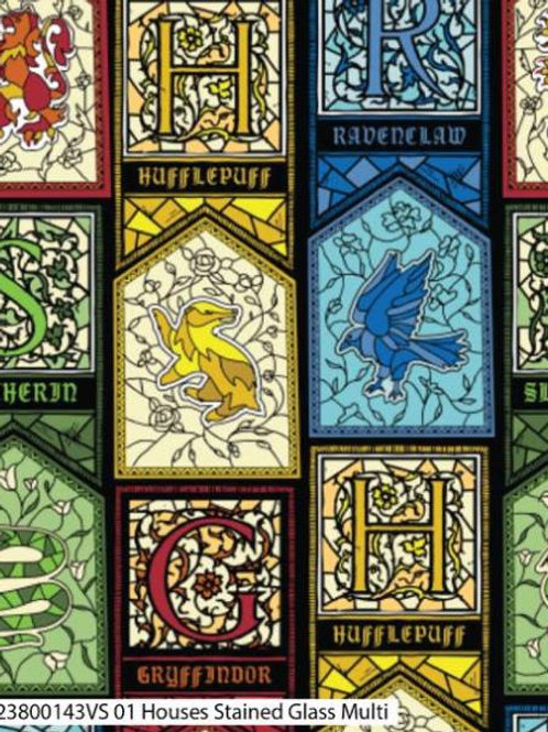 Harry Potter- Stained Glass Houses
