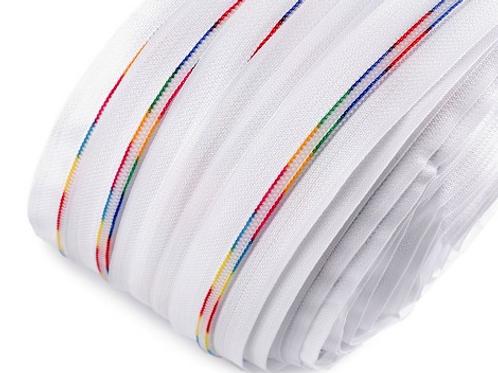 New #5 white tape with rainbow teeth