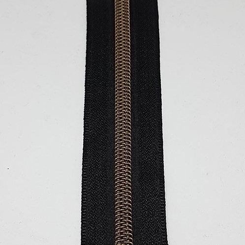 Black Tape with Nylon Brass Teeth