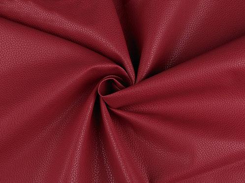 Leatherette-  Textured Dark Red
