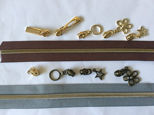 #5 pulls gold or brass