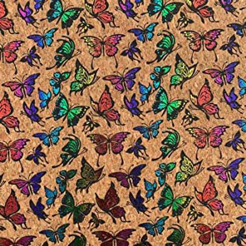Thin Rainbow Butterfly Cork