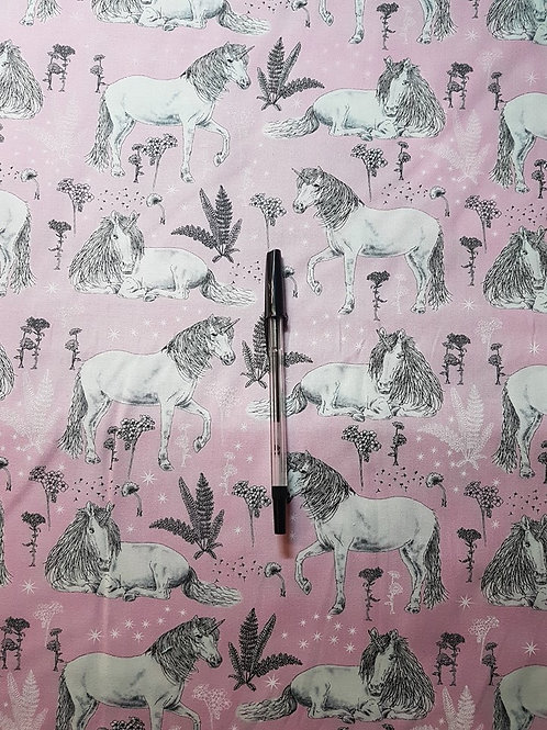 Sketched Unicorns Pink