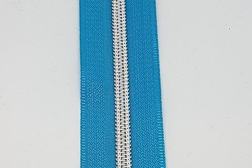 Blue Tape with Nylon Silver Teeth