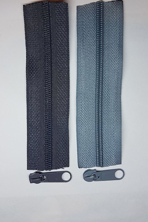 1m #3 zipper + 4 pulls