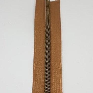 Beige Tape with Nylon Brass Teeth
