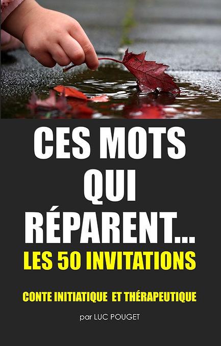 couverture en couleur du livre CES MOTS QUI REPARENT, avec une main d'enfant qui ramasse une feuille morte tombée dans l'eau.